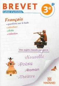 Français, cahier d'activités brevet, 3e