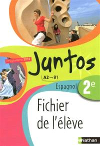 Juntos espagnol, 2de A2-B1 : fichier de l'élève