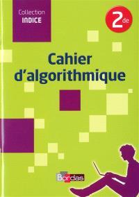 Cahier d'algorithmique 2de