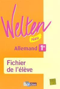 Welten allemand, 1re Neu : LV1-LV2