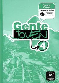 Gente joven 4, B1.2 : espagnol 4e année, cahier d'activités