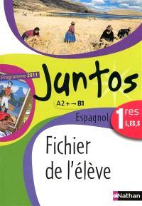 Juntos espagnol 1res L, ES, S, A2+-B1 : fichier de l'élève : programme 2011