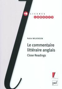 Le commentaire littéraire anglais : close readings