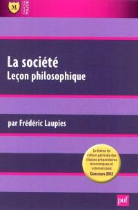 La société : leçon philosophique : concours 2012