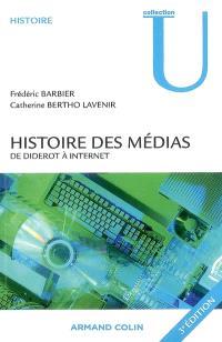 Histoire des médias, de Diderot à Internet
