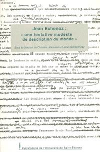 Jean Echenoz, une tentative modeste de description du monde