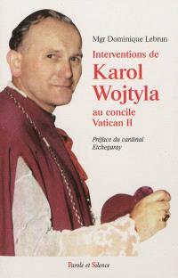 Interventions de Karol Wojtyla au concile Vatican II