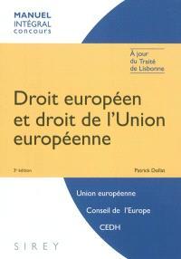 Droit européen et droit de l'Union européenne