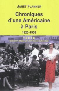 Chroniques d'une Américaine à Paris, 1925-1939