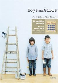 Boys and girls : 22 modèles à coudre : patrons à taille réelle, 100-110-120-130 cm, de 4 ans à 10 ans