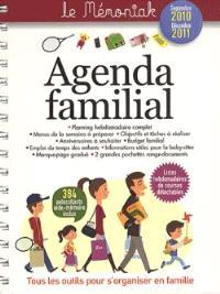 Agenda familial Mémoniak 2010-2011