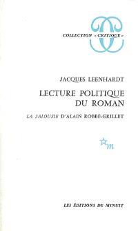 Lecture politique du roman La jalousie d'Alain Robbe-Grillet
