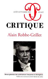 Critique. n° 651, Alain Robbe-Grillet