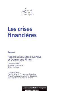 Les crises financières : rapport