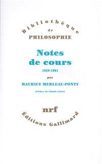 Notes de cours, 1959-1961