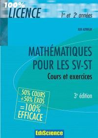 Mathématiques DEUG sciences SV-ST : cours et exercices corrigés