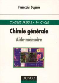 Aide-mémoire de chimie générale