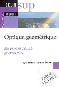 Optique géométrique : rappels de cours et exercices