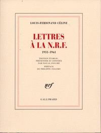Lettres à la N.R.F. : 1931-1961