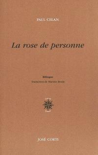 La rose de personne = Die Niemandsrose