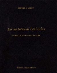 Sur un poème de Paul Celan