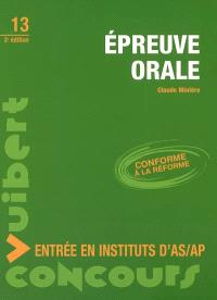 Epreuve orale : entrée en instituts d'AS-AP