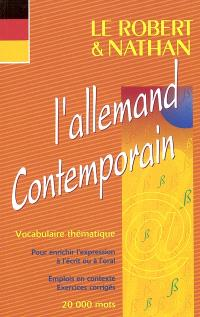 L'allemand contemporain