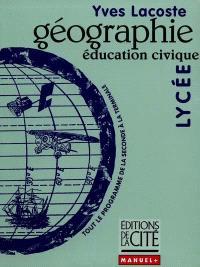 Géographie, éducation civique