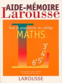 Maths : tout le programme du collège
