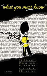 What you must know : vocabulaire anglais-français, notions et fonctions, situations