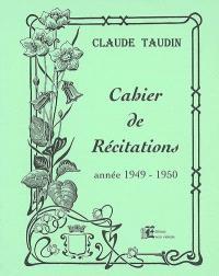 Cahier de récitations, Année 1949-1950