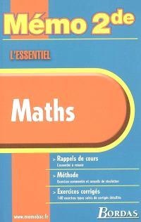 Maths : rappels de cours, méthode, exercices corrigés
