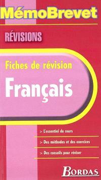 Français : fiches de révision