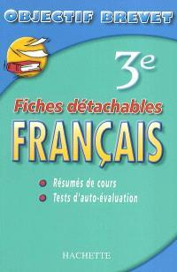 Français 3e : résumés de cours, tests d'auto-évaluation