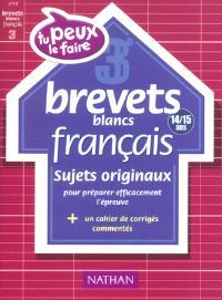 Français 3e (14-15 ans) : brevets blancs