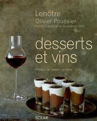 Desserts et vins