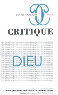 Critique. n° 704, Dieu