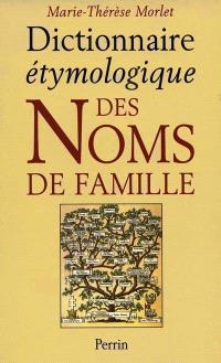 Dictionnaire étymologique des noms de famille