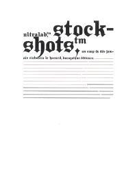 Ultralab, stock-shots, un coup de dés jamais n'abolira le hasard