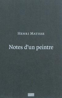 Notes d'un peintre