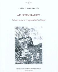 Ad Reinhardt : peinture moderne et responsabilité esthétique