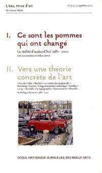 Ce sont les pommes qui ont changé : exposition, Paris, Ecole nationale supérieure des beaux-arts, sep.-déc. 2000