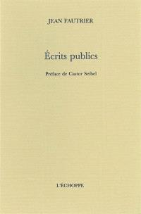 Ecrits publics