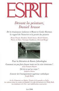 Esprit. n° 325, Devant la peinture, Daniel Arasse