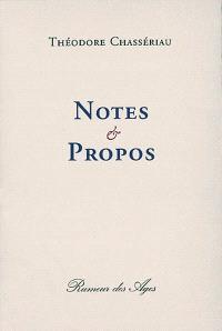 Notes et propos