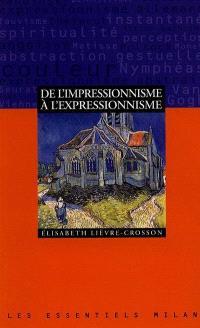 De l'impressionnisme à l'expressionnisme
