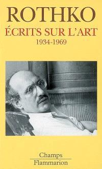 Ecrits sur l'art : 1934-1969