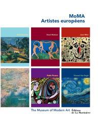 MoMA, artistes européens : Paul Cézanne, Henri Matisse, Joan Miro, Claude Monet, Pablo Picasso, Vincent Van Gogh