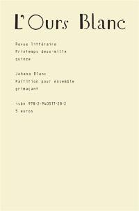 Ours blanc (L'). n° 5, Partition pour ensemble grimaçant