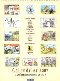 Calendrier 2007 : la Confédération paysanne a 20 ans !